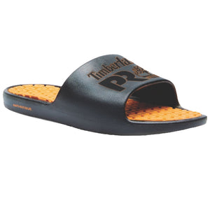 'Timberland Pro' Men's Logo Anti-Fatigue Tech Slides - Black / Orange