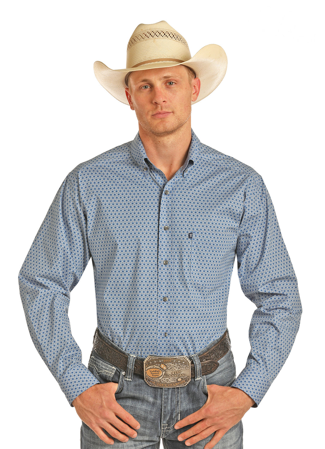 'Panhandle Slim' Tuf Cooper Performance - Blue