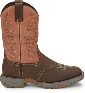 "'Tony Lama' Men's 11"" Junction Dusty Boot - Dusty San Antone Orange / Brown"