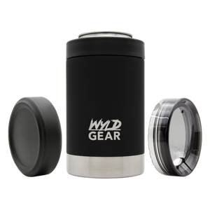 'WYLD GEAR' WC12-18BK - Multi Can Koozie - Black