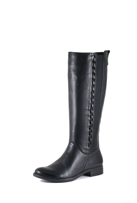 'Bussola' Trapani Trista - Women's Tall Boot - Vintage Calf Black