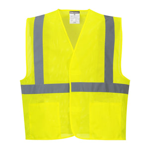 'Port West' Hi-Vis Reflective Mesh Vest - Yellow