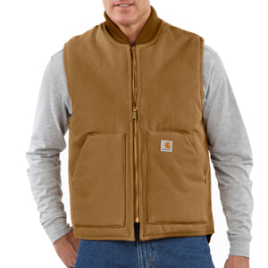'Carhartt' Men's Duck Vest Arctic Quilt Lined - Carhartt Brown