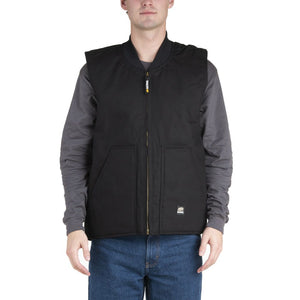 'Berne' Men's Duck Workman's Vest - Black