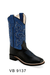 "'Old West' Kids' 6.5"" Boys Blue Western - Black / Blue"