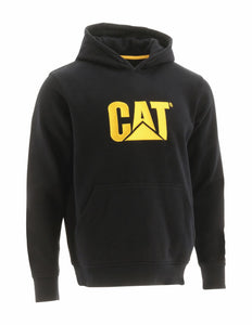 'Caterpillar' Men's Trademark Hooded Sweatshirt - Black