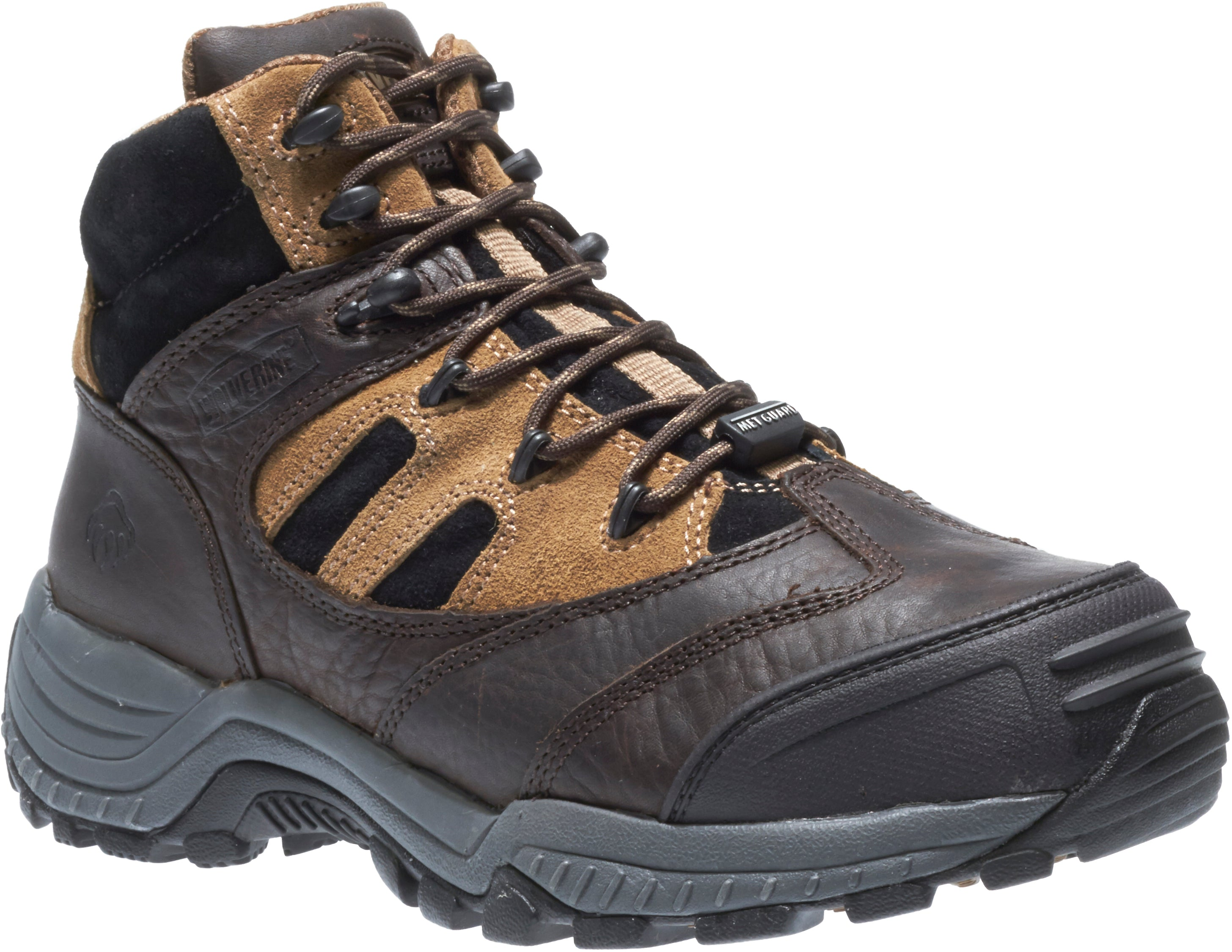 Kingmont Internal Met Guard Composite Toe Hiker - Brown / Black / Tan
