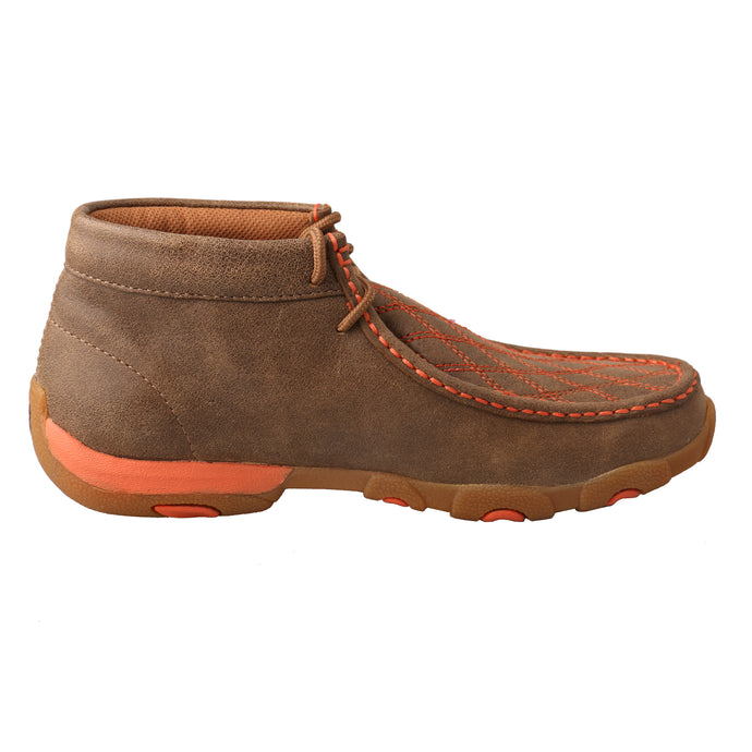 'Twisted X' Women's Driving Moc - Bomber / Orange