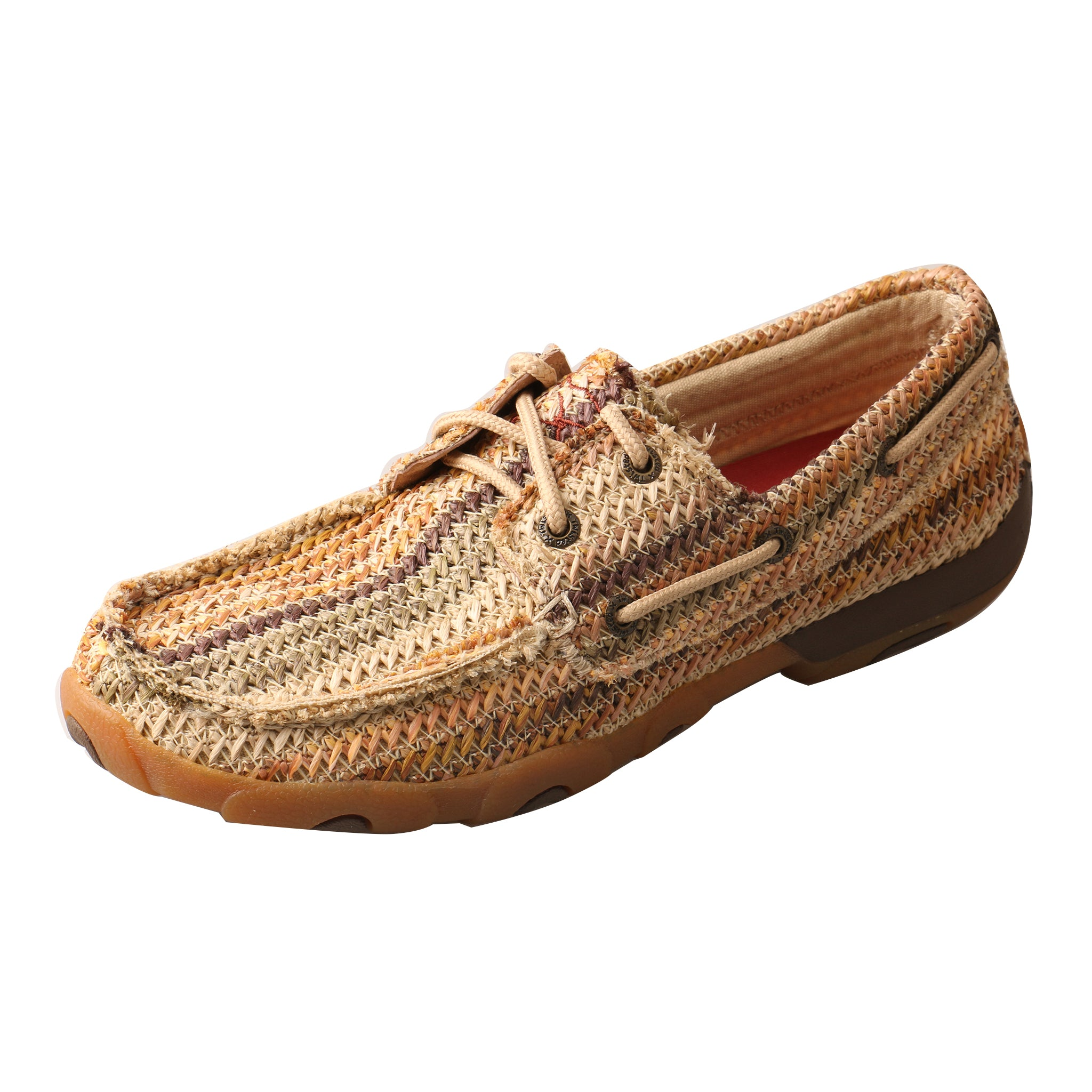 'Twisted X' WDM0084 - Weave Driving Moccasin - Multi Earth Tones