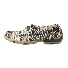 'Twisted X' Women's Driving Moccasin - Black / White