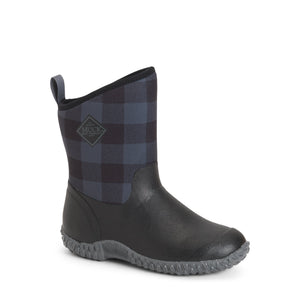 'Muck' Women's Muckster II Mid Plaid WP - Black / Grey