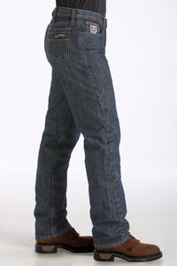 'Cinch' Men's White Label Fire Resistant Relaxed Fit Straight Leg - Indigo Blue