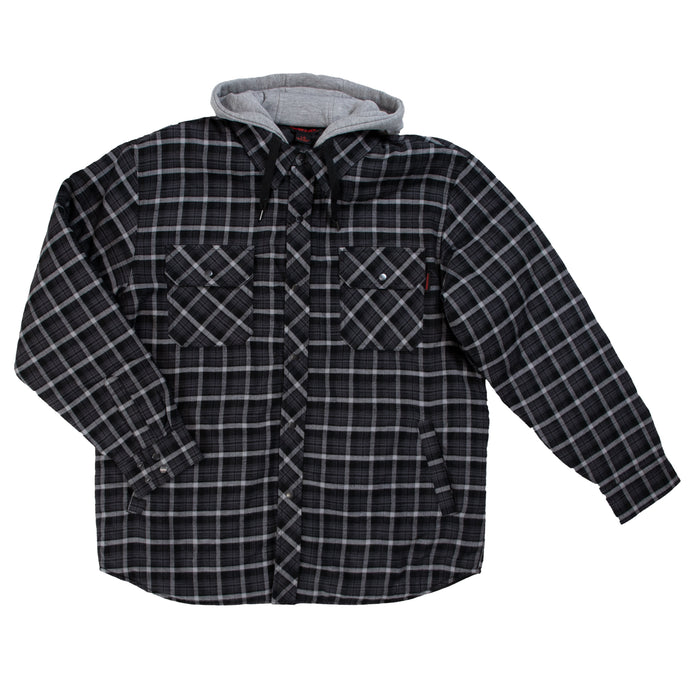 'Tough Duck' Men's Quilt Lined Flannel Jacket - Blue / Grey