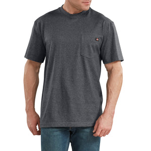 'Dickies' Heavyweight Crew T-Shirt - Charcoal Grey Heather