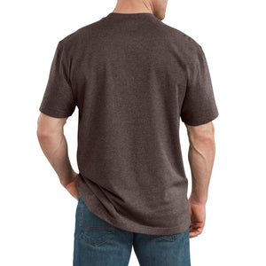 'Dickies' Heavyweight Crew T-Shirt - Chocolate Heather
