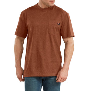 'Dickies' Heavyweight Crew T-Shirt - Rustic Red Heather