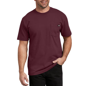 'Dickies' Heavyweight Crew T-Shirt - Burgundy
