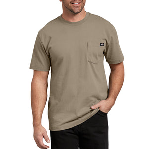 'Dickies' Heavyweight Crew T-Shirt - Desert Khaki / Tan