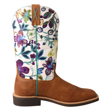 "'Twisted X' Women's 11"" Top Hand Western - Tan / Floral"