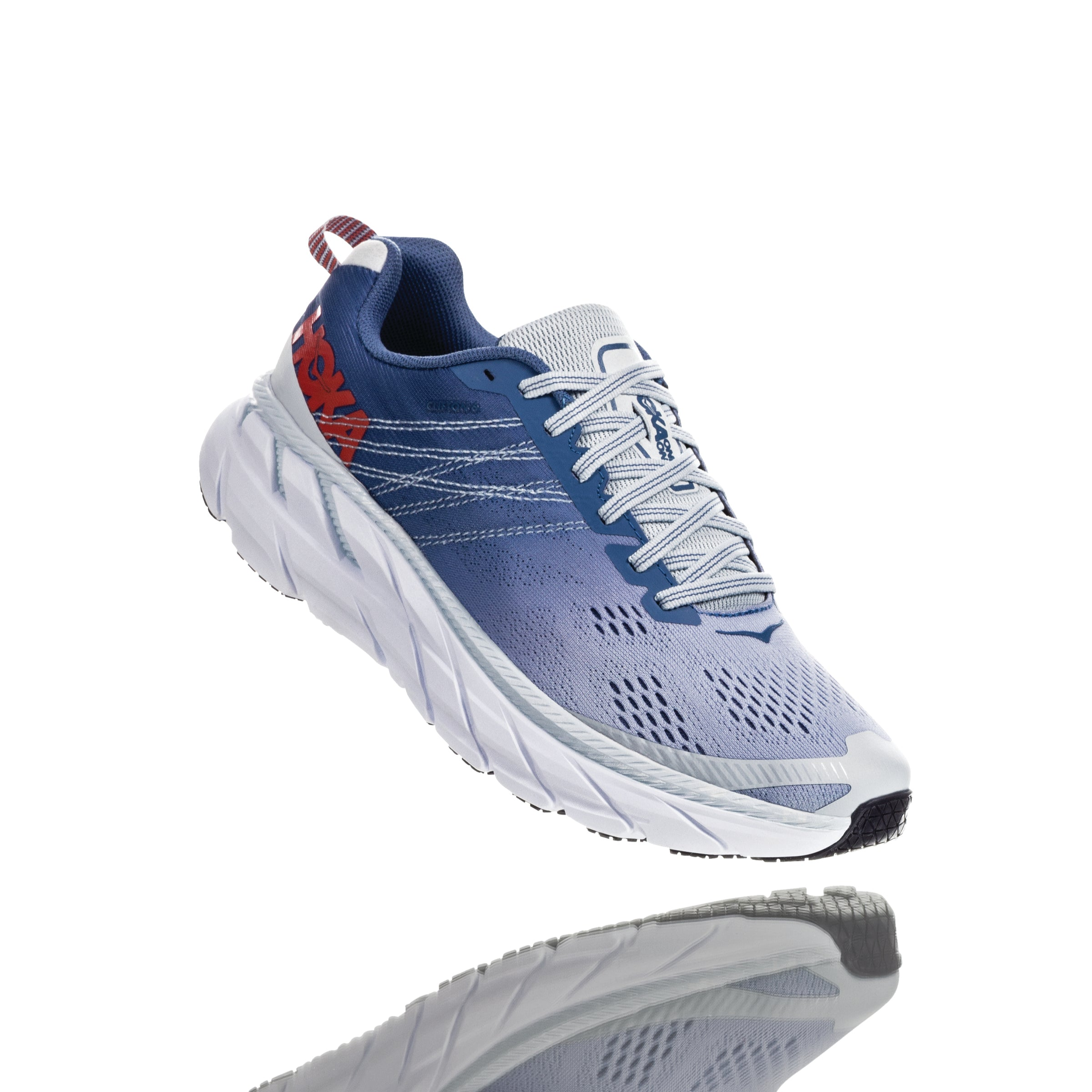 'HOKA' Women's Clifton 6 - Plein Air / Midnight Blue