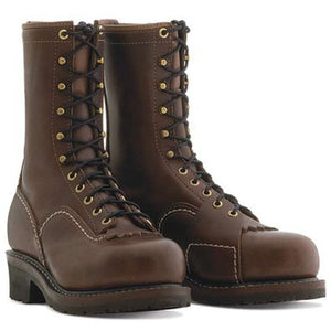 "'Wesco' EHBR57101270 - Men's 10"" Voltfoe : Comp Toe : EH : Lineman Boot - Brown"