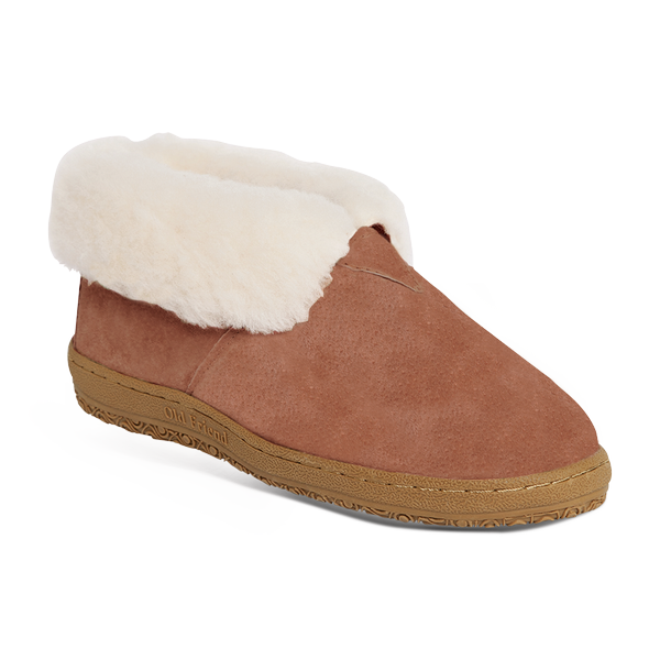 'Old Friend Footwear' 441120 - Women's Bootee Slipper - Chestnut