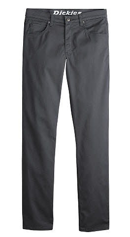 'Dickies' X-Series Regular Fit Straight Leg 5-Pocket Pants - Rinsed Charcoal Gray