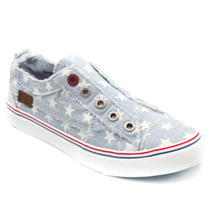 'Blowfish Malibu' Play ZS-0061 970 - Slip-on Shoe - Ice Denim Star Print