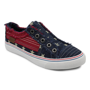 'Blowfish' Malibu Play ZS-0061 584 - Slip-on Shoe - Navy Stars Striped