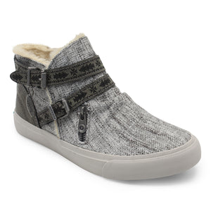 'Blowfish Malibu' ZS-0279BSH 519 - Women's Mojo Zippered Sneaker - Grey / Black
