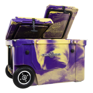 'WYLD GEAR' HC50-PG - 50 Qt. Divided Cooler - Purple / Gold