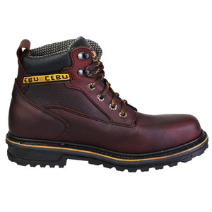 "'CEBU' Men's 6"" A-Borce Steel Toe Boot - Brown / Black"