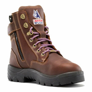 "'Steel Blue' Women's 6"" Southern Cross EH SR Int. Met Guard Steel Toe - Oak (Wide)"