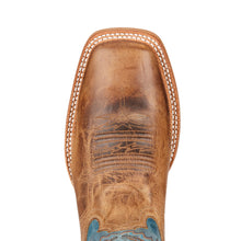 "'Ariat' Men's 11"" Arena Rebound - Tan / Light Blue / Dusted Wheat"
