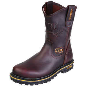 "'CEBU' Men's 10"" ATK Steel Toe - Brown"