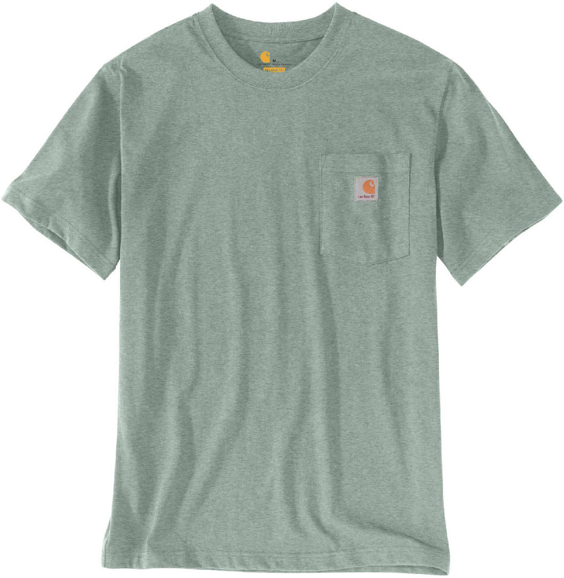'Carhartt' Men's Workwear Pocket Tee - Leaf Green Snow Heather