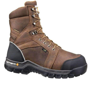 "'Carhartt' Men's 8"" Comp Toe WP Internal Metguard - Brown"
