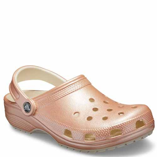 'Crocs' Women's Classic Metallic Clog - Rose Gold