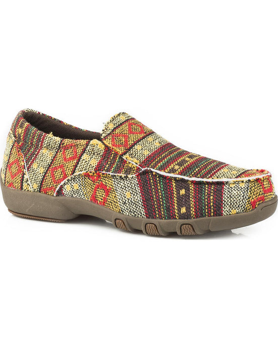 'Roper' Women's Johnnie Brown Driving Moccasin - Brown / Multi