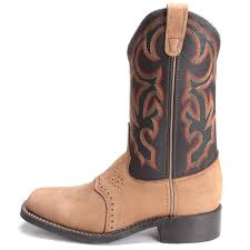 Stockman Cowboy Boot - Light Tan / Black