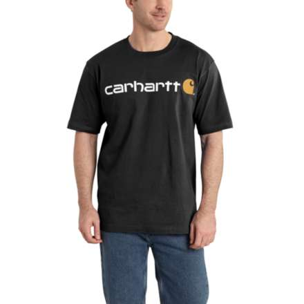 'Carhartt' Men's Heavyweight Logo T-Shirt - Black