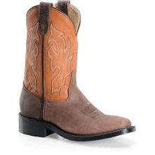 "'Double H' Men's 11"" Wide Square Toe Cowboy Boot - Cognac / Chocolate"