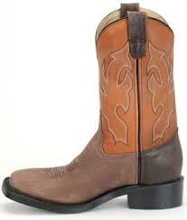 "11"" Wide Square Toe Cowboy Boot - Cognac / Chocolate"