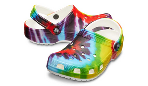 'Crocs' Women's Classic Tie-Dye Graphic Clog - Multi / Rainbow