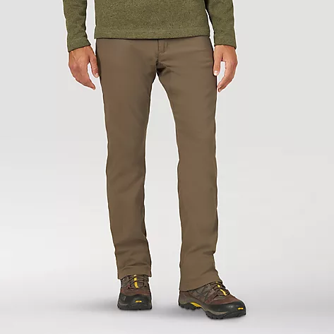 'Wrangler' Men's Fleece Lined Utility Pant - Morel