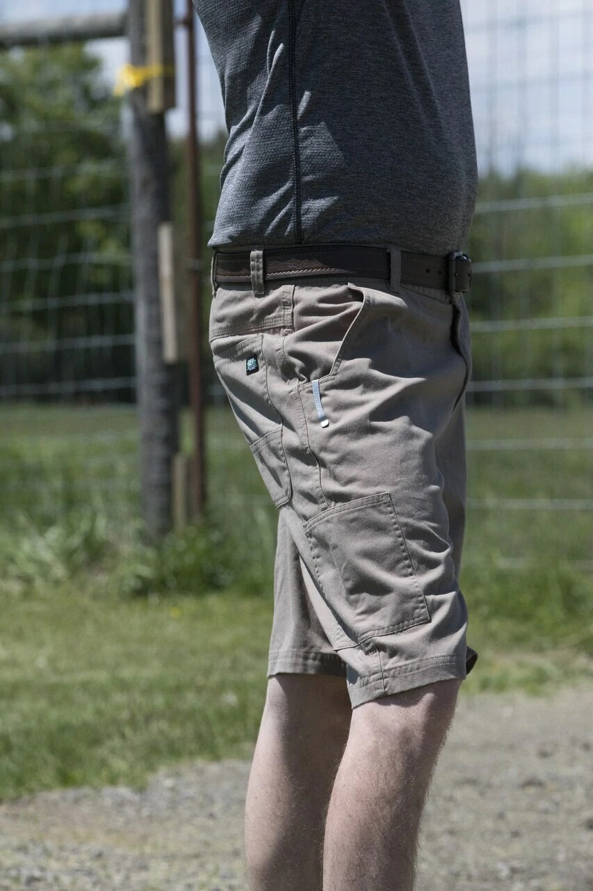 'KEY' Men's Flex Foreman Short - Smoke