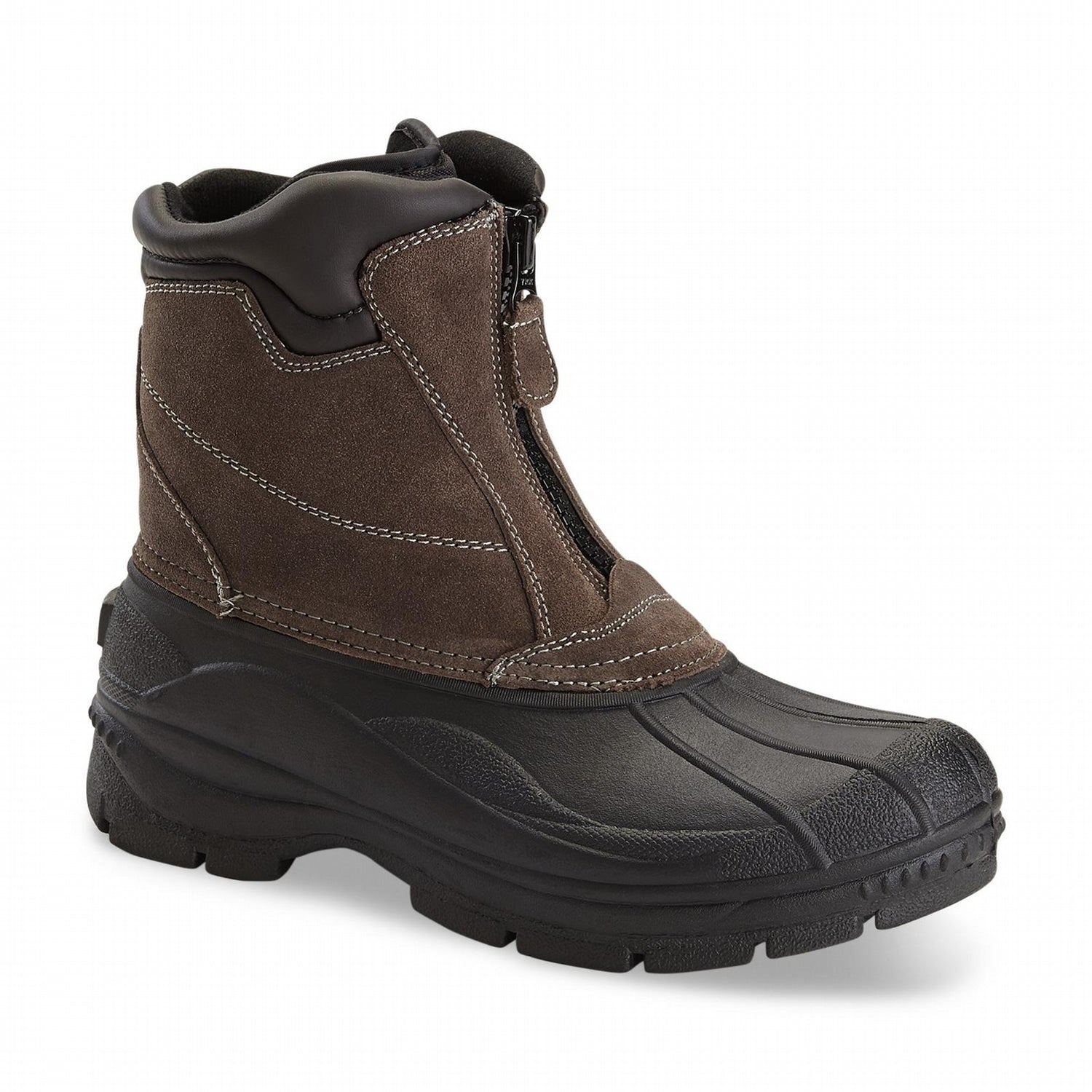 'Totes' Men's Glacier Zip Insulated Boots - Brown