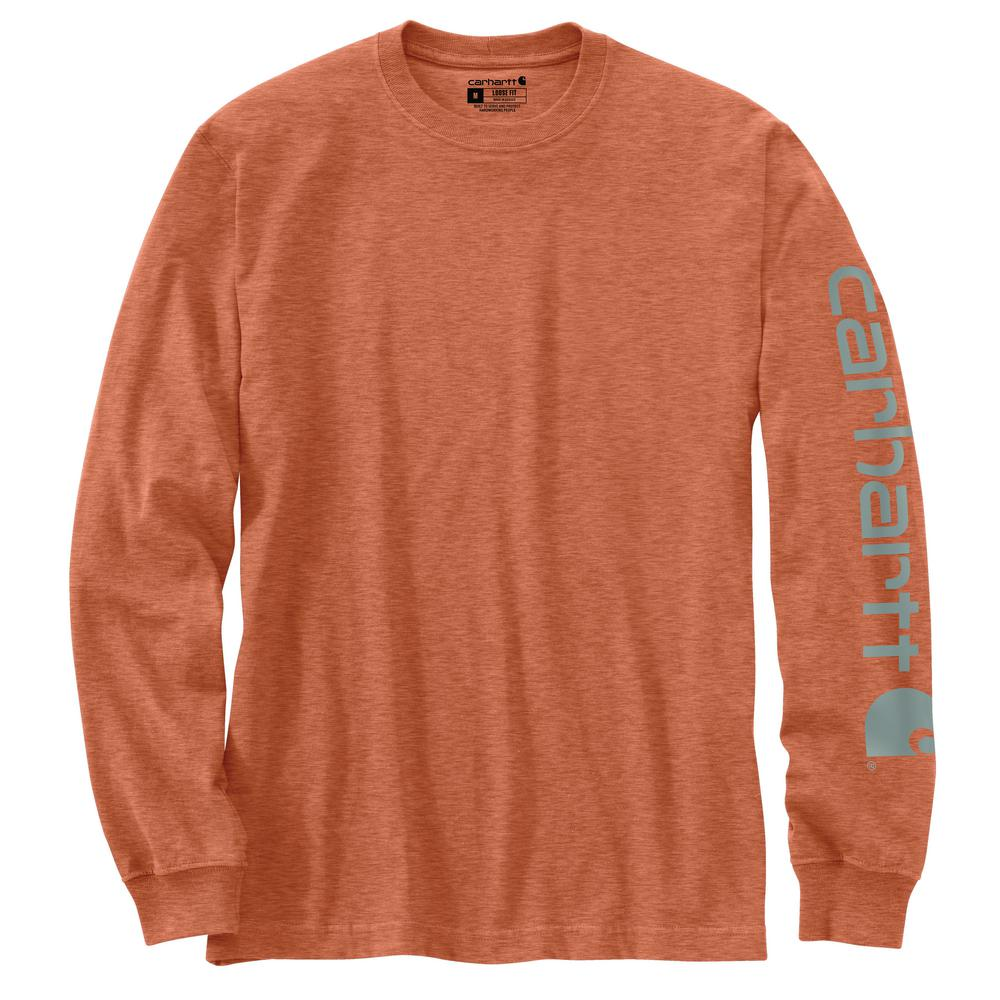 'Carhartt' Men's Heavyweight Sleeve Logo T-Shirt - Ginger Heather
