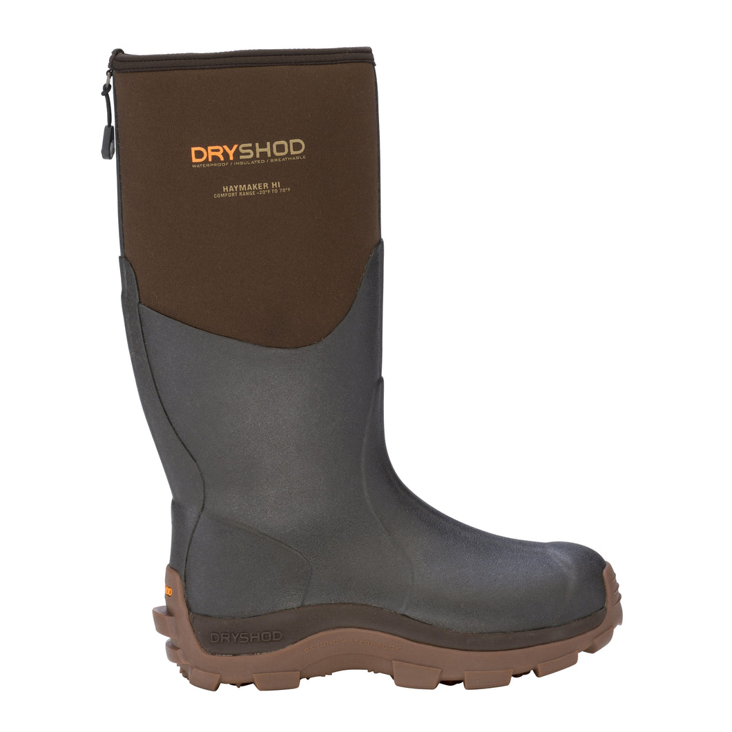 'Dryshod' Men's Haymaker Hi -20 Farm Boots - Brown / Black