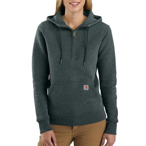 'Carhartt' Women's Clarksburg 1/2 Zip Sweatshirt - Fog Green Heather